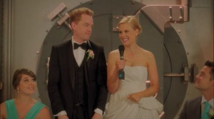 Pilot- Happy Marriage of Vernon, played by Todd Robert Anderson, and Becca, played by Janet Varney