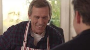 Storms and Pancakes- Tom serves pancakes
