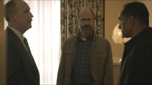 Tehran- Abbas, played by Navid Negahban, talks with Mike and Leon