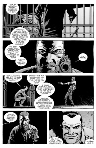 The Walking Dead #141- Rick discovers that Negan's cell is open