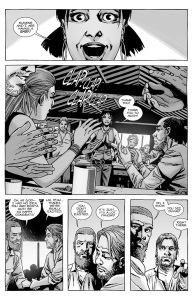 The Walking Dead #141- Rosita announces that she and Eugene are having a baby