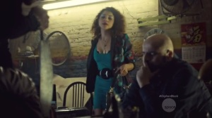 Community of Dreadful Fear and Hate- Luisa, played by Jessica Salgueiro, goes off to meet Alison