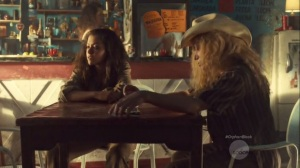 Community of Dreadful Fear and Hate- Sarah and Helena at a bar