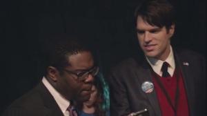 Election Night- Jonah tells Richard that Selina wants to thank him