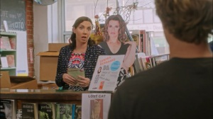 Equally Dead Inside- Jimmy thinks his books have sold out, learns Sandra Bernhard will be coming for a book reading