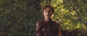 Far from the Madding Crowd- Bathsheba Everdeen, played by Carey Mulligan, rides her horse