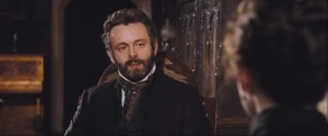 Far from the Madding Crowd- William Boldwood, played by Michael Sheen, speaks with Bathsheba