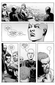 The Walking Dead #143- Alpha tells Rick that he's in no position to threaten