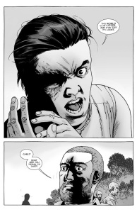 The Walking Dead #143- Carl says that the world, not Rick, is his father