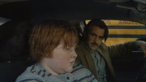 The Western Book of the Dead- Detective Ray Velcoro, played by Colin Farrell, speaks with his son, Chad, played by Trevor Larcom