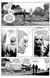 The Walking Dead #144- Alpha doesn't approve of Rick's way of life