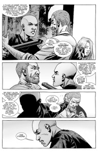 The Walking Dead #144- Alpha threatens Rick, says this world is for the strong