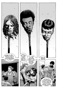 The Walking Dead #144- Olivia, Josh, and Carson's heads