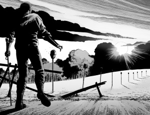 The Walking Dead #144- Rick finds the border