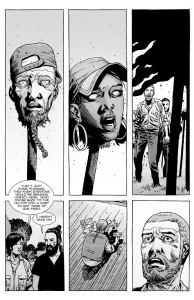 The Walking Dead #144- Rosita among the dead
