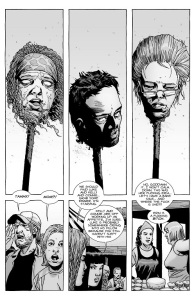 The Walking Dead #144- Tammy, Luke, and Erin's heads