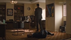 Black Maps and Motel Rooms- Blake bleeds out on Frank's carpet