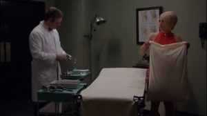 Monkey Business- Betty helps Bill prep an operatng room and asks him about sperm donations for single women