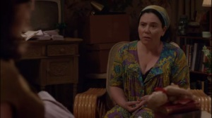 Monkey Business- Loretta Gladwin, played by Alex Borstein, talks to Bill and Virginia about working with Gil