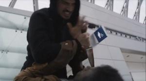 Omega Station- Leonard slashes at Holloway