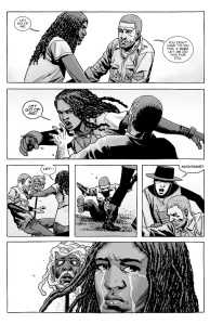 The Walking Dead #145- Michonne reacts to losing Ezekiel
