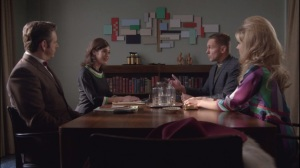 Two Scents- Bill and Virginia speak with Al Neely, played by Christopher Wiehl, and Isabella Ricci, played by Kristen Hager