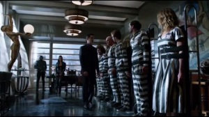 Damned If You Do- Theo Galavan greets the inmates