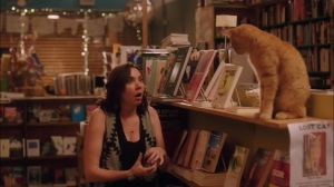 Fists and Feet and Stuff- Cat returned to book store