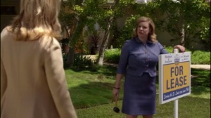 Full Ten Count- Libby finds Cindy Loman, played by Celeste Pechous, putting a 'For Lease' sign on the Edley home lawn