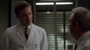 Surrogates- Barton speaks with newcomer Jonathan Laurents, played by Rob Benedict