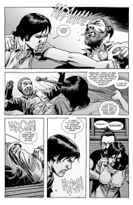 The Walking Dead #146- Maggie punches Rick