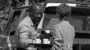 First Time Again- Carol gives Morgan a drink
