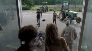 First Time Again- Glenn and Heath kill walkers