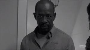 First Time Again- Morgan watches Rick hold a gun to Carter's head