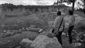 First Time Again- Rick and Morgan find a quarry filled with walkers