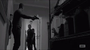 First Time Again- Rick enters as Carter prepares to kill Eugene