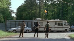 First Time Again- Rick, Michonne, and Morgan arrive at the orange zone