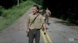 First Time Again- Rick, Michonne, and Morgan on the move