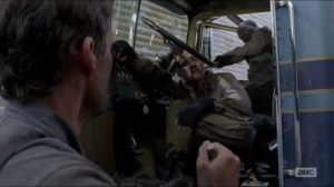 JSS- Morgan kills a walker as Spencer hesitates