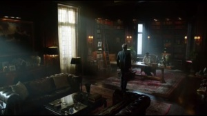 Knock, Knock- Alfred prepares to leave Wayne Manor