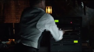 Knock, Knock- Alfred takes a hammer to Thomas Wayne's computer