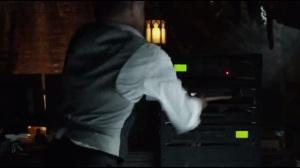 Knock, Knock- Alfred takes a hammer to Thomas Wayne's computer