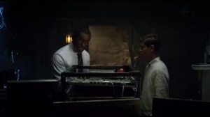 Knock, Knock- Lucius works on Thomas Wayne's computer