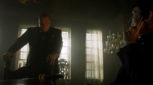 Scarification- Penguin wonders why Galavan wants an antique knife that belonged to the Wayne family