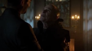 Scarification- Theo reunites with Father Creel, played by Ron Rifkin