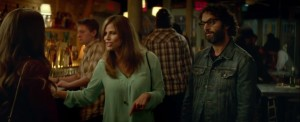 Sleeping with Other People- Xander, played by Jason Mantzoukas, and his wife, Naomi, played by Andrea Savage, drink with Jake and Lainey at the bar