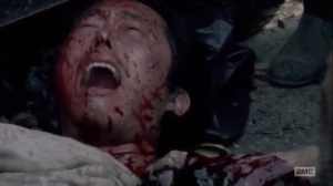 Thank You- Glenn covered in blood