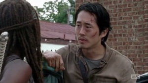 Thank You- Glenn tells Michonne that he needs to get home