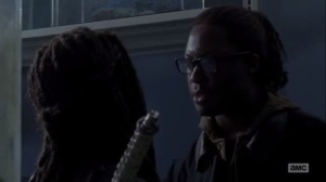 Thank You- Heath and Michonne argue about survival