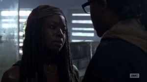 Thank You- Michonne and Daryl argue